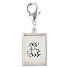 Sister of the Bride Silver Portrait Charm