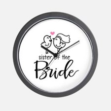 Sister of the Bride Wall Clock
