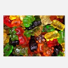 cute gummy bears Postcards (Package of 8)
