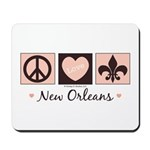 Peace Love New Orleans Mousepad