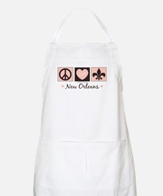 Peace Love New Orleans BBQ Apron