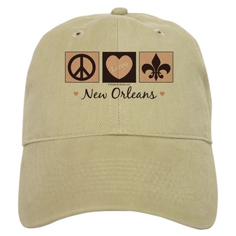 Peace Love New Orleans Cap