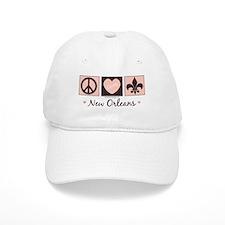 Peace Love New Orleans Baseball Baseball Cap