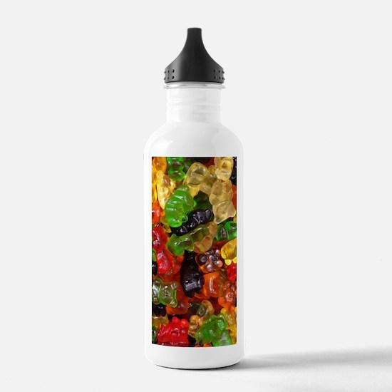 cute gummy bears Water Bottle