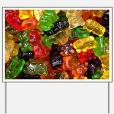 cute gummy bears Yard Sign