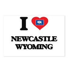I love Newcastle Wyoming Postcards (Package of 8)