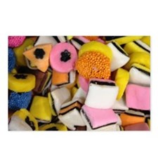 retro licorice candy Postcards (Package of 8)