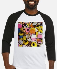 retro licorice candy Baseball Jersey