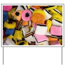 retro licorice candy Yard Sign