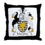 Marples Family Crest Throw Pillow