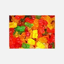 vintage gummy bears 5'x7'Area Rug