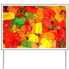 vintage gummy bears Yard Sign