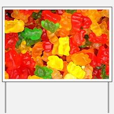 vintage gummy bears Yard Sign