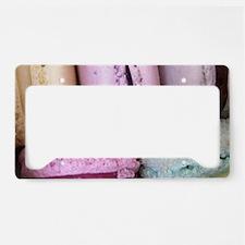 pastel macaron art License Plate Holder