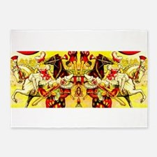 Circus Clown Lady Horses Vintage 5'x7'Area Rug