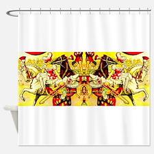 Circus Clown Lady Horses Vintage Shower Curtain