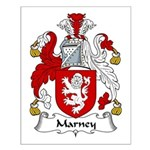 Marney Family Crest Small Poster