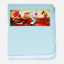 Trapeze Girls baby blanket