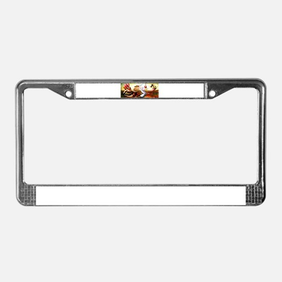 Trapeze Girls License Plate Frame