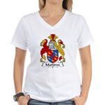 Marlowe Family Crest Women's V-Neck T-Shirt
