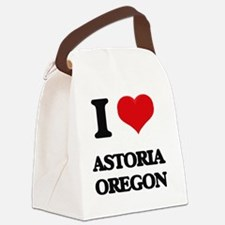 I love Astoria Oregon Canvas Lunch Bag