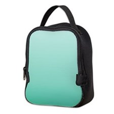 beach seafoam ombre Neoprene Lunch Bag