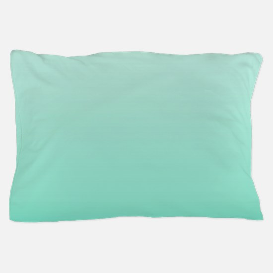 beach seafoam ombre Pillow Case
