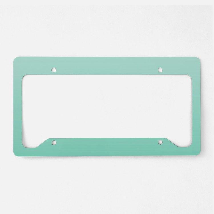 beach seafoam ombre License Plate Holder