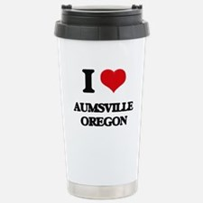 I love Aumsville Oregon Travel Mug