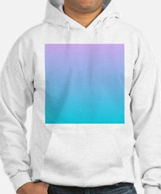 purple turquoise ombre Hoodie