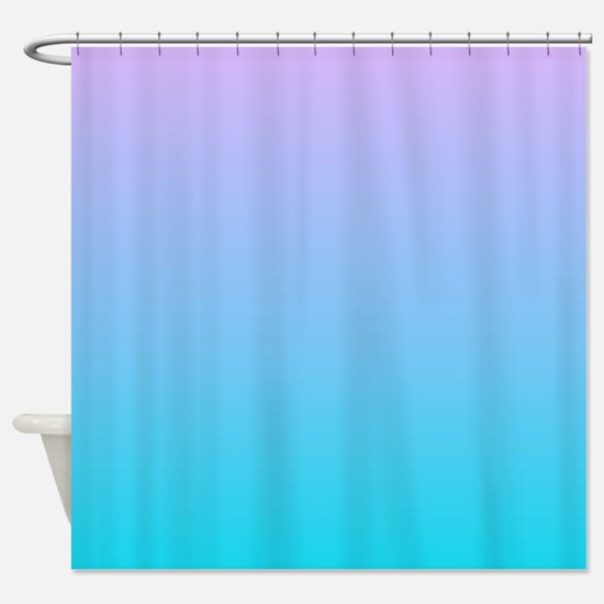 Turquoise shower curtains cafepress for Purple ombre shower curtain