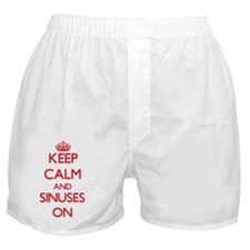 Keep Calm and Sinuses ON Boxer Shorts