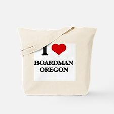 I love Boardman Oregon Tote Bag