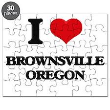 I love Brownsville Oregon Puzzle