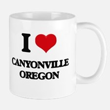 I love Canyonville Oregon Mugs