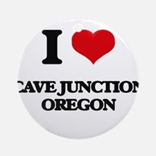 I love Cave Junction Oregon Ornament (Round)