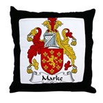 Marke Family Crest Throw Pillow