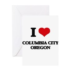 I love Columbia City Oregon Greeting Cards
