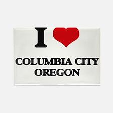 I love Columbia City Oregon Magnets