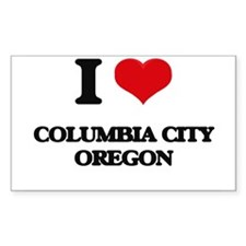 I love Columbia City Oregon Decal