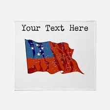 Western Samoa Flag Throw Blanket