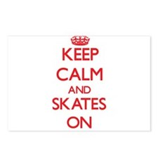 Keep Calm and Skates ON Postcards (Package of 8)