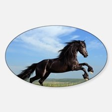 Black Horse Running Decal