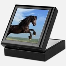 Black Horse Running Keepsake Box