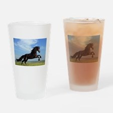 Black Horse Running Drinking Glass