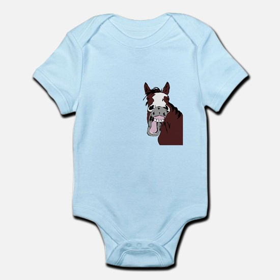 Cartoon Horse Laughing Funny Equestrian Art Body S