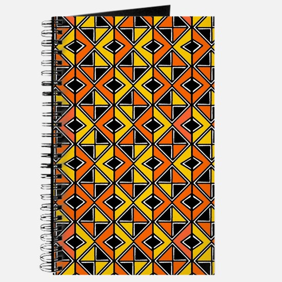 Mud Cloth Style 100215 - Amber and Orange Journal