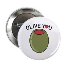"""Olive You 2.25"""" Button"""