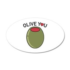 Olive You 22x14 Oval Wall Peel