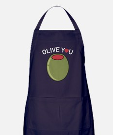 Olive You Apron (dark)